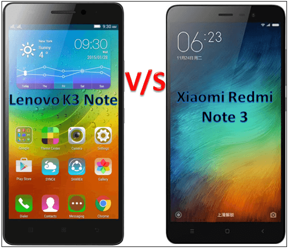 Lenevo k3 vs Redmi Note 3