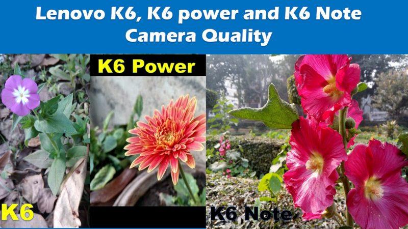 Lenovo K6 Camera Quality