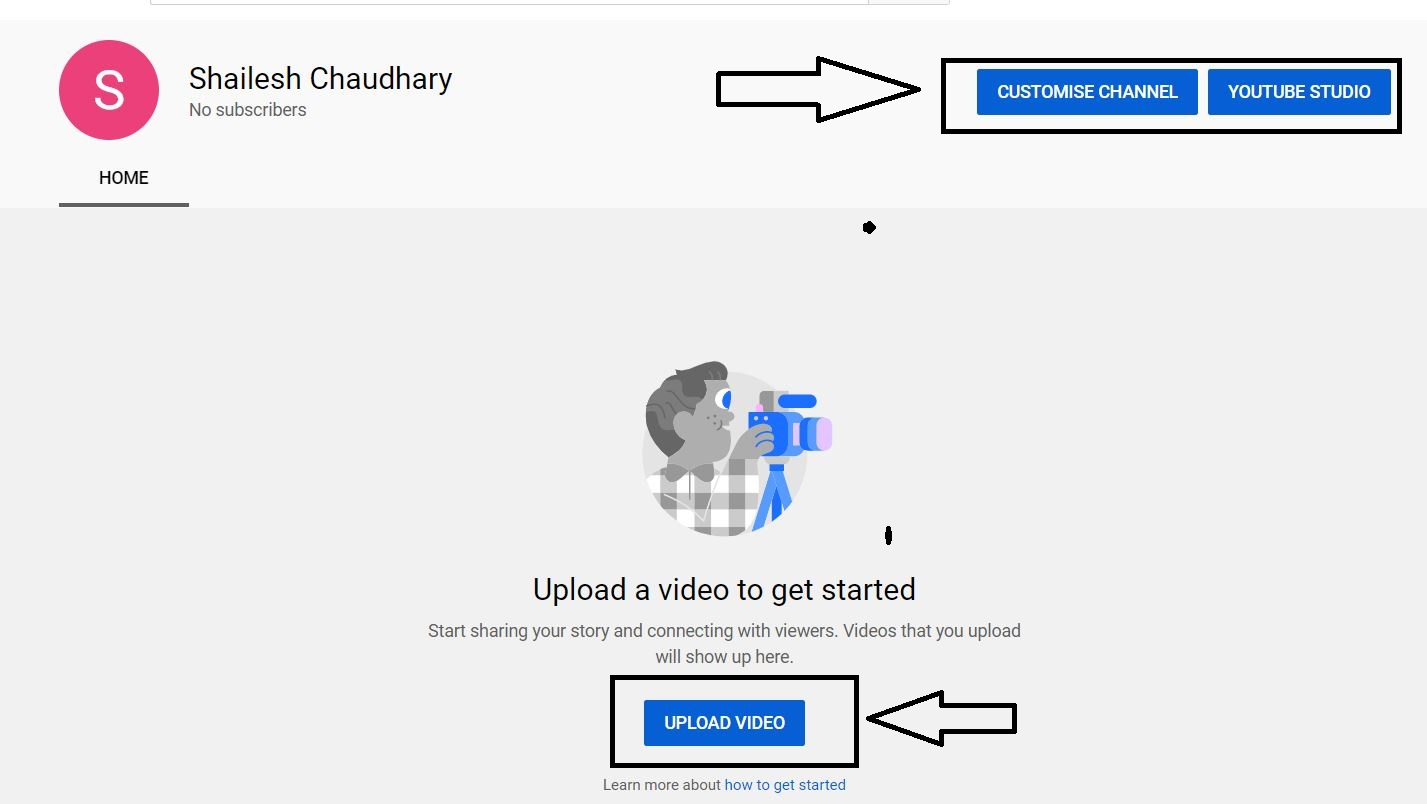 YouTube Channel Create successfully