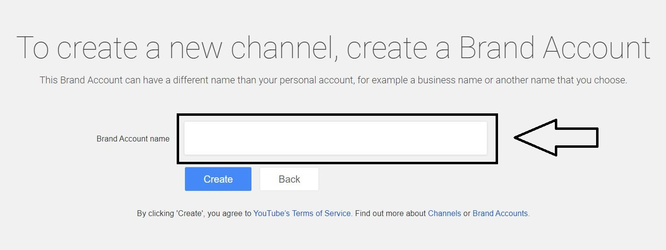 enter channel name