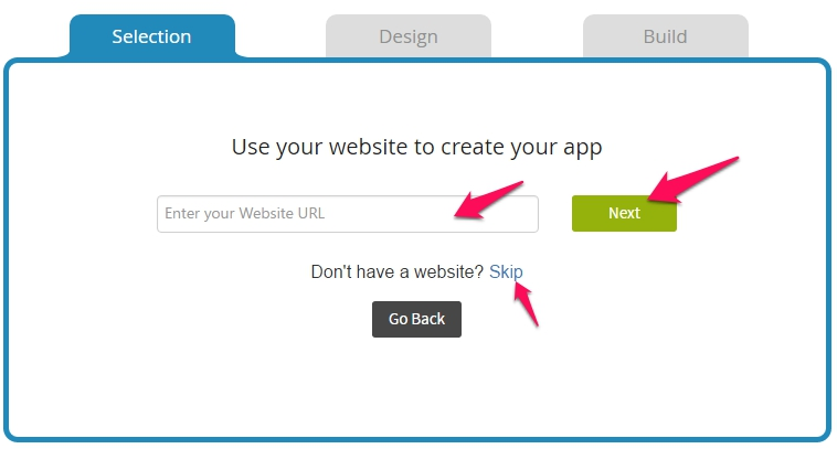 Enter Website Url