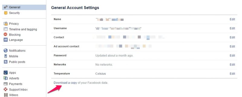 Recover Deleted Facebook Photo step 2