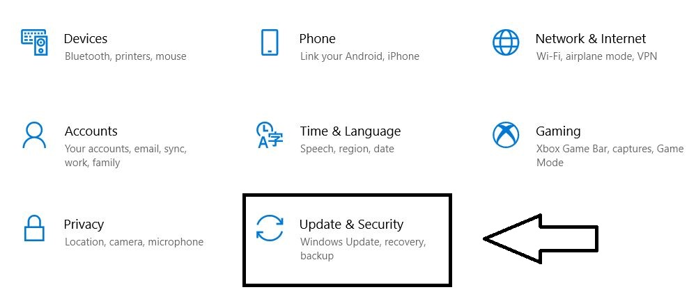 update and security setting