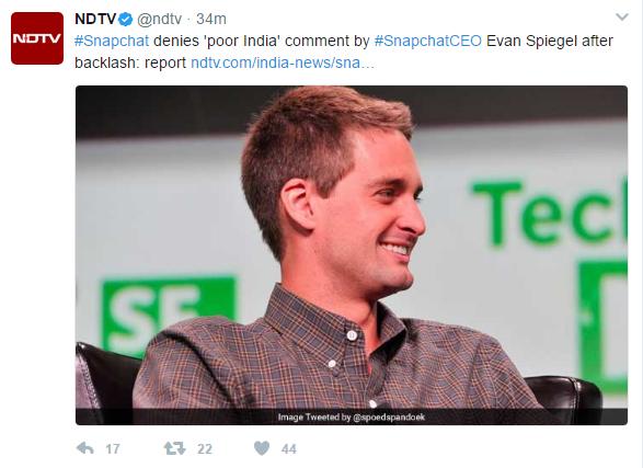 Snapchat CEO On india