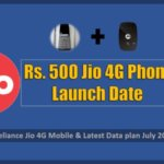 Rs. 500 Jio 4G Phone Launch Date & Plan July 2017