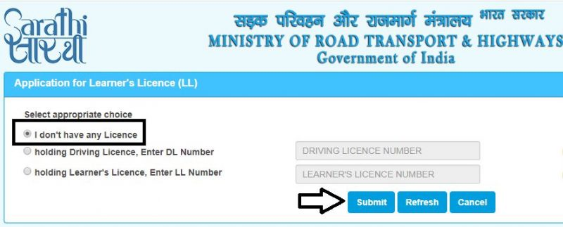 Apply for Learning Licence