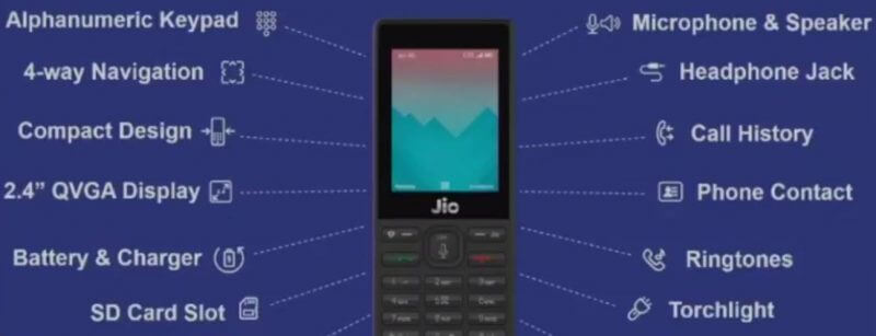 Reliance Jio Phone Feature
