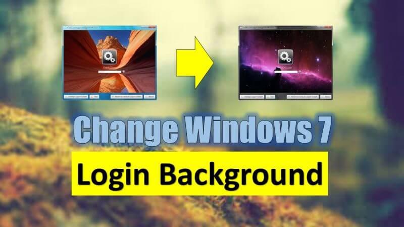 Windows 7 Login Background Change Kaise Kare