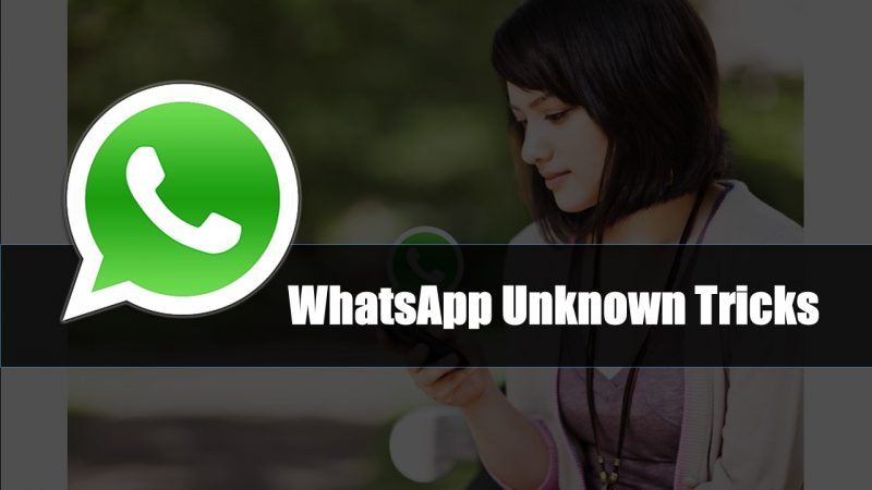 WhatsApp Unknown Tricks