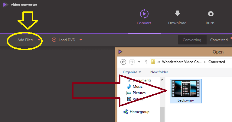 Add wmv File