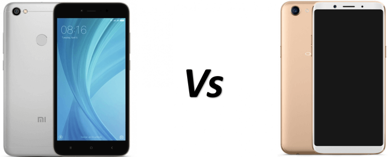 Redmi y1 vs oppo f5 design