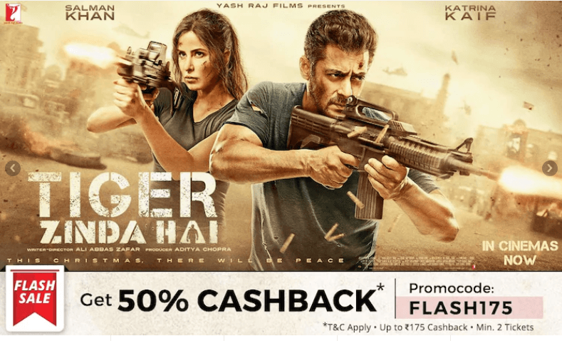 Movie ticket cashback