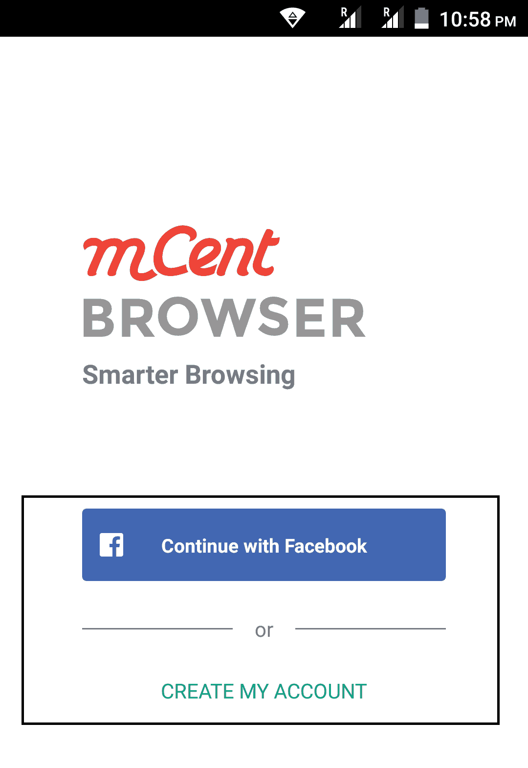 mcent browser login