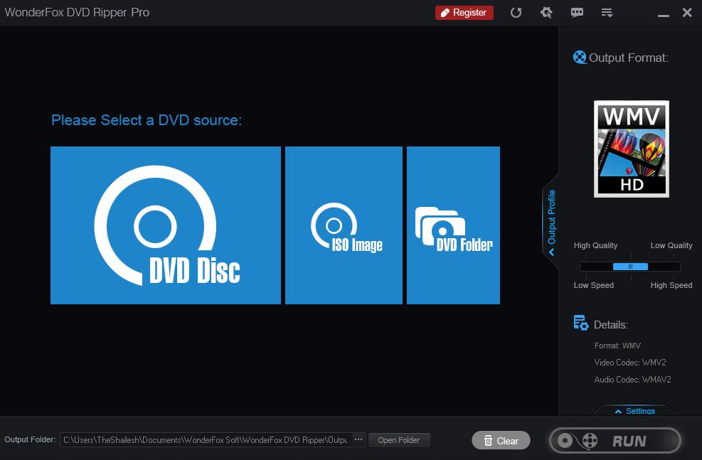 Open WonderFox DVD Ripper Pro Software