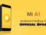 Xiaomi Mi A1 Me Android Oreo 8.0 official Update