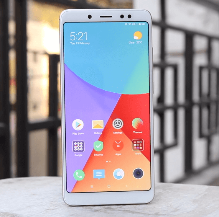 Front of Redmi Note 5 Pro