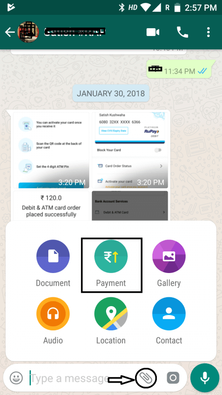 WhatsApp Payment