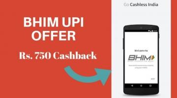 BHIM UPI cashback 2018