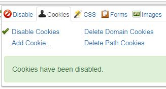 cookies Disable