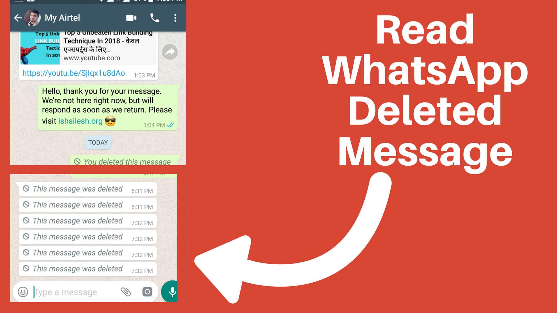 WhatsApp notification history