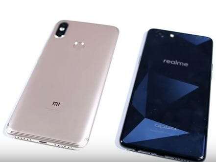 redmi y2 vs realme 1 design