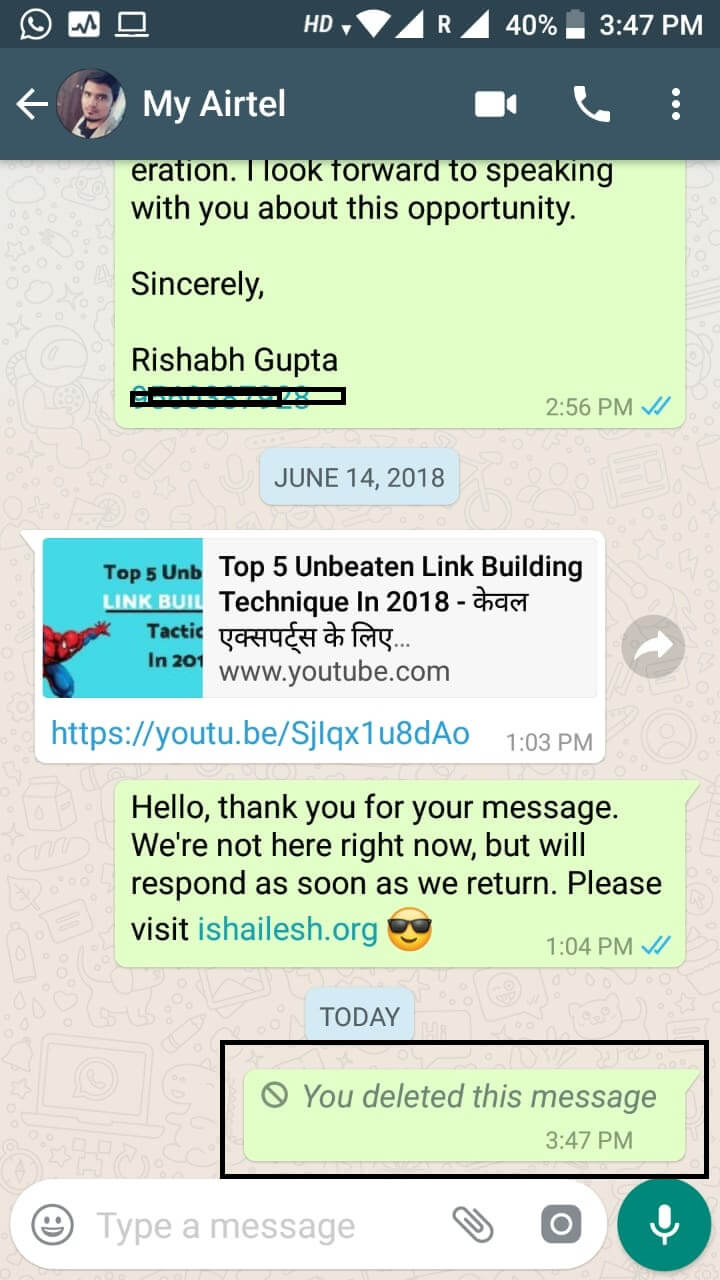 whatsapp deleted message