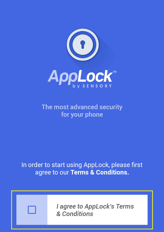 app lock setup