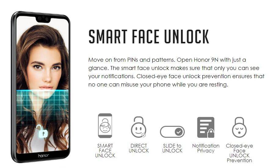 honor 9n smart lock