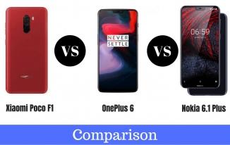 Xiaomi Poco F1 Vs Nokia 6.1 Plus Vs OnePlus 6 Full Comparison in Hindi