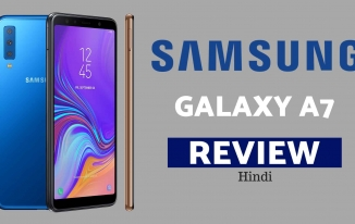 Samsung Galaxy A7 Review In Hindi –  24MP+24MP & 3 Back Camera