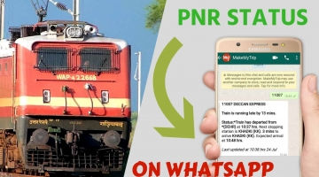 Train pnr status on whatsapp