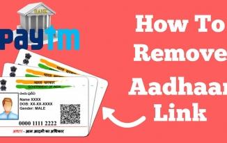 Aadhaar Card Link Bank, Paytm Se Kaise Hataye(unlink)?