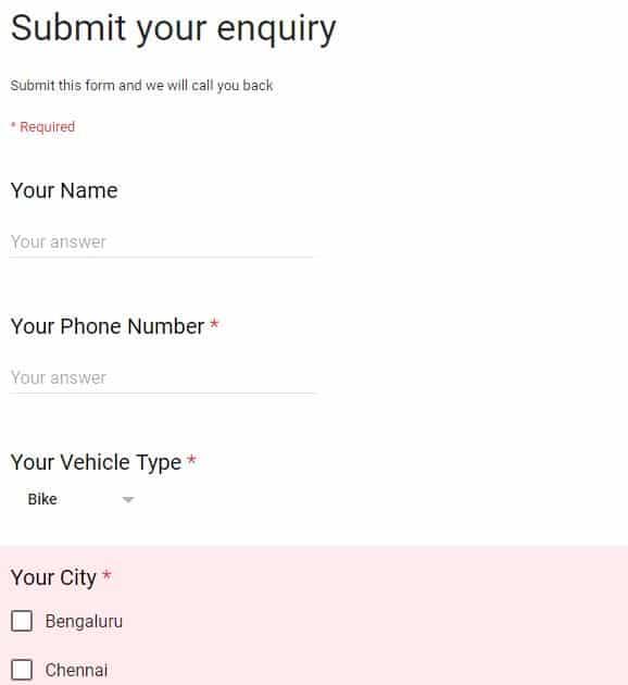 ola bike partners form