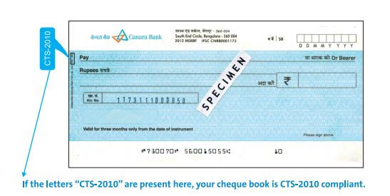 cts cheque 2019