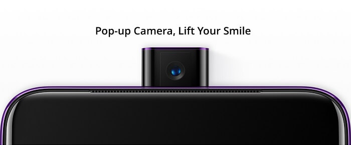 popup front camera
