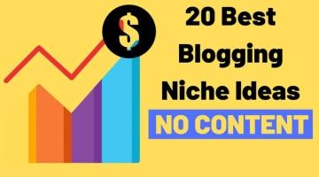 20 Best Blogging Niche Ideas
