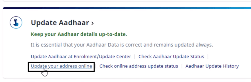update your address online