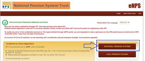 NPS registration