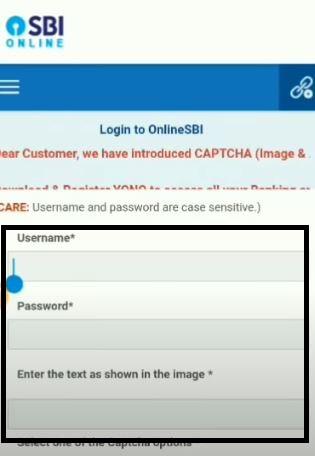 SBI Internet banking login