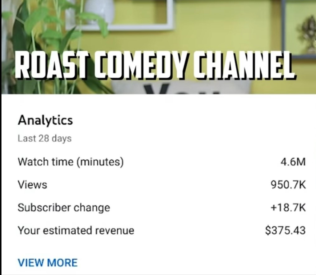income on roast channel