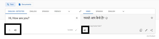 Google Voice translate