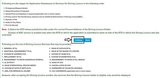 click on DL service
