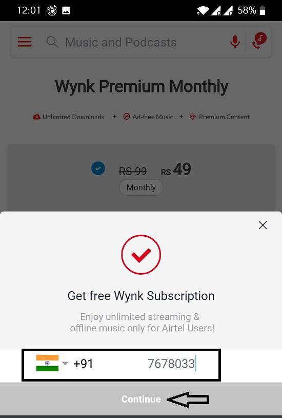 login Wync music