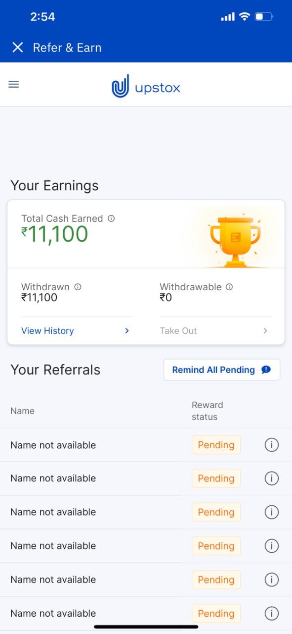 Upstox income proof