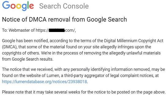 google dmca copyright