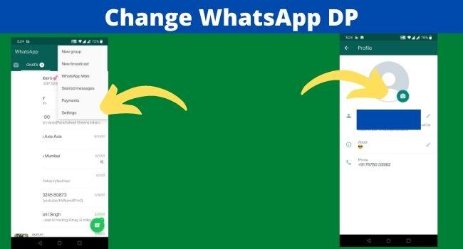Change WhatsApp DP