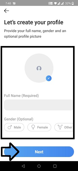 Add Sandes App Profile