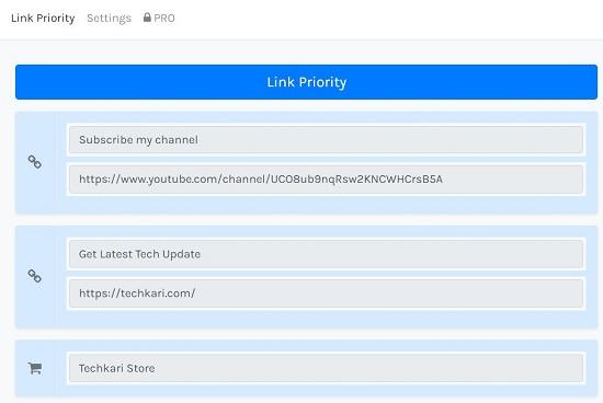 link Priority